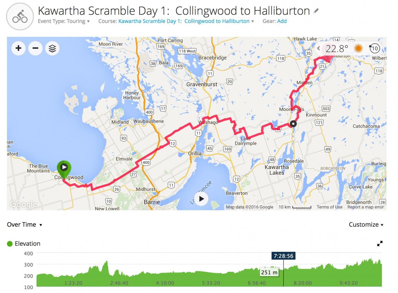 Kawartha Scramble Day 1 - Collingwood to Halliburton