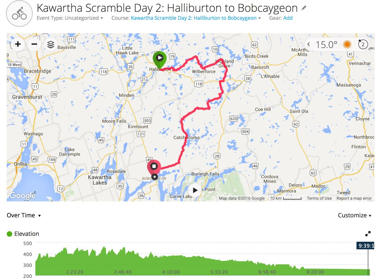 Kawartha Scramble Day 2 - Halliburton to Bobcaygeon
