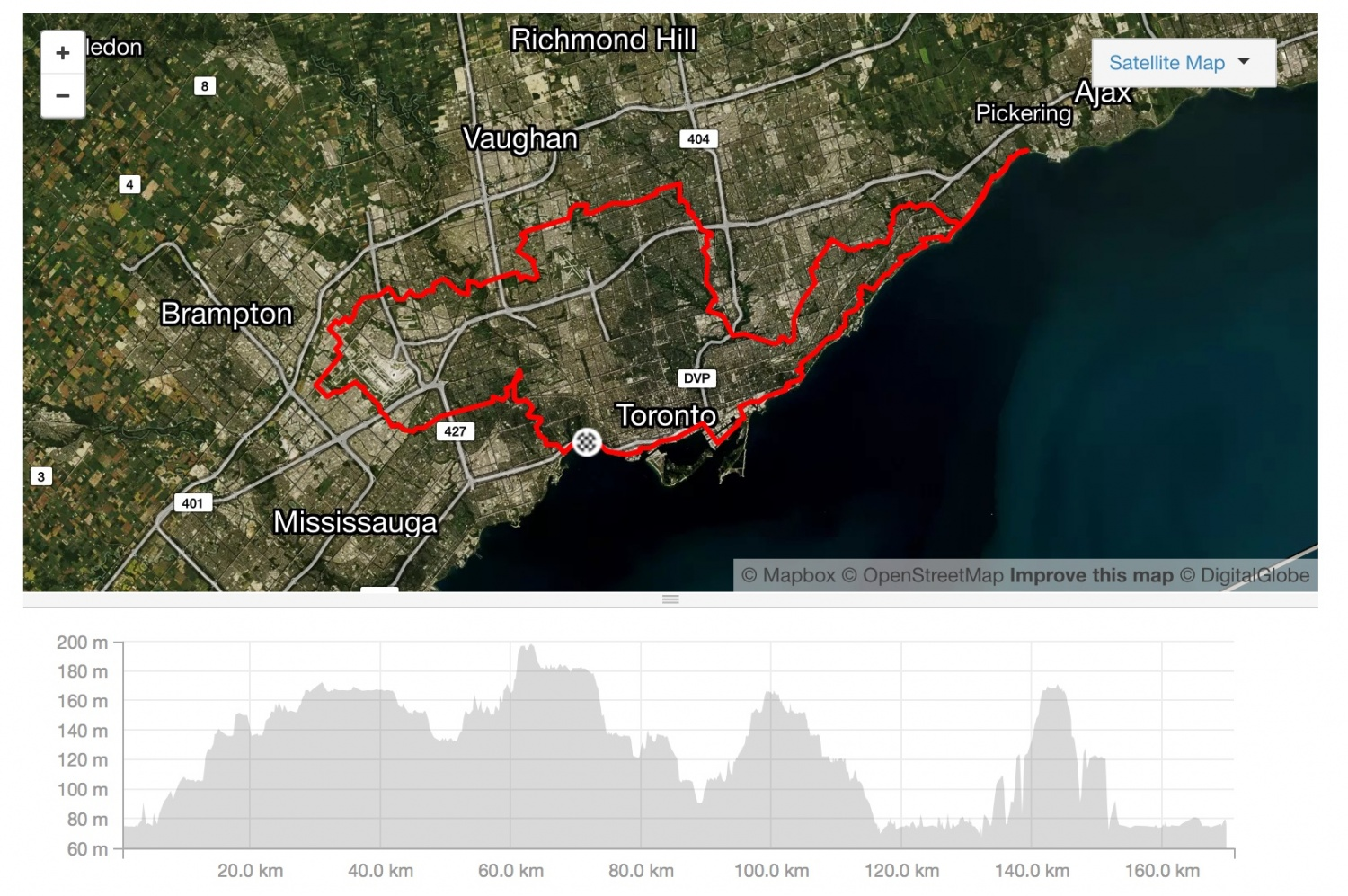Big Toronto Trail Map Image